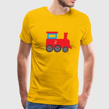 Train for kids steam engine trains tram railway - Men's Premium T-Shirt
