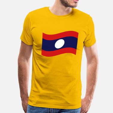 Lao Flag Laos / Lao Flag Wave - Men's Premium T-Shirt