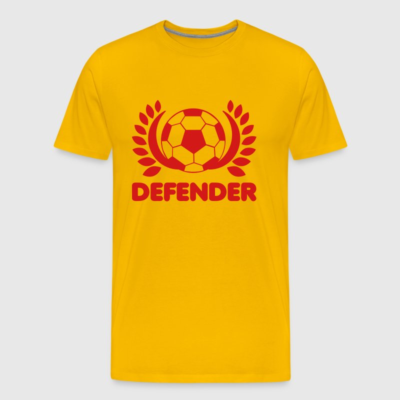Soccer BALL DEFENDER with leaves - Men's Premium T-Shirt