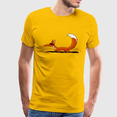 sneaky fox the wildlife spy Mr agent orange - Men's Premium T-Shirt
