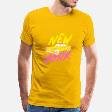 I Love Ny new york yellow taxi cab - Men's Premium T-Shirt
