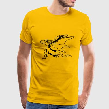 Dragon Wing cool - Men's Premium T-Shirt