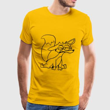 fox witty - Men's Premium T-Shirt