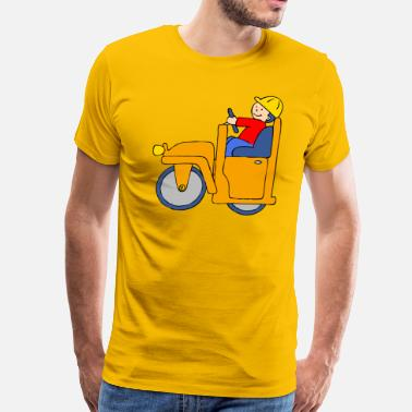 Road Construction Road Roller - Men's Premium T-Shirt