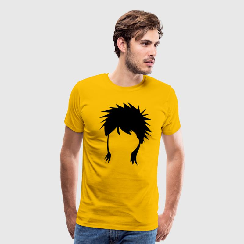 spiked mullet hair style - Men's Premium T-Shirt