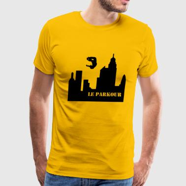 Le Parkour, Traceur, paving the way 1 - Men's Premium T-Shirt