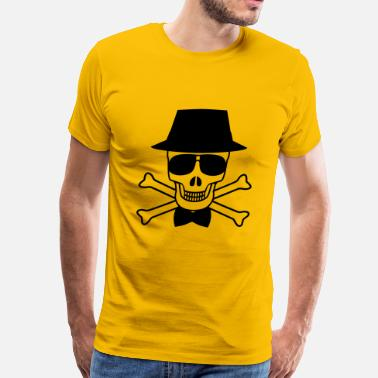 Occult Skull Skulls Skeleton Cool Skull - Men's Premium T-Shirt