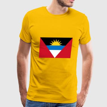 Antigua and Barbuda country flag love my land patr - Men's Premium T-Shirt