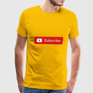 Subscribe button - Men's Premium T-Shirt