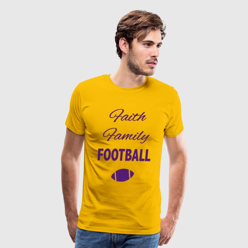 faith family football fan - Men's Premium T-Shirt