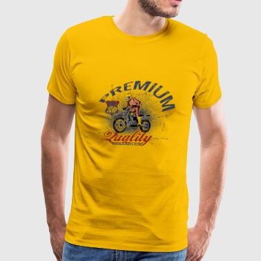 T Shirt street wear motorcycle motor sport vector - Men's Premium T-Shirt