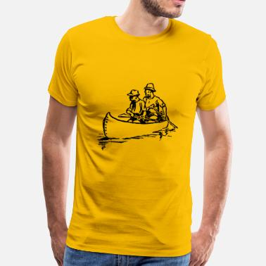 Canoeing Kayaking canoe kayak kanu kahn paddelboot ruderboot10 - Men's Premium T-Shirt