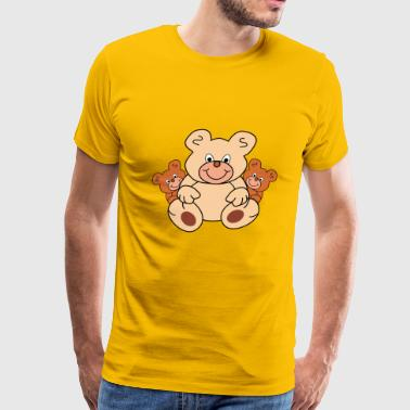 three teddy bears - Men's Premium T-Shirt