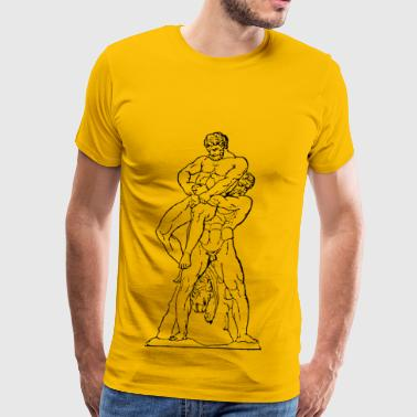 Greco-roman Wrestling Heracles And Antaios - Men's Premium T-Shirt