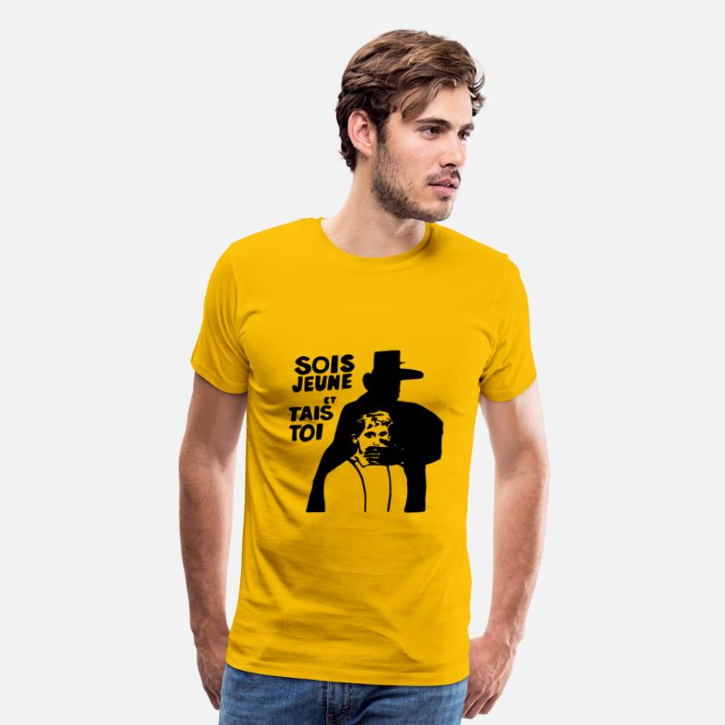 Martian T-Shirts - Sois Jeune Et Tais Toi - Men's Premium T-Shirt sun yellow