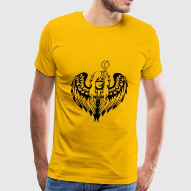 Joint Evil Angel wings joint kiffen - Men's Premium T-Shirt