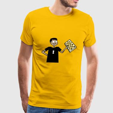 Nerd Chess Guy - Men's Premium T-Shirt