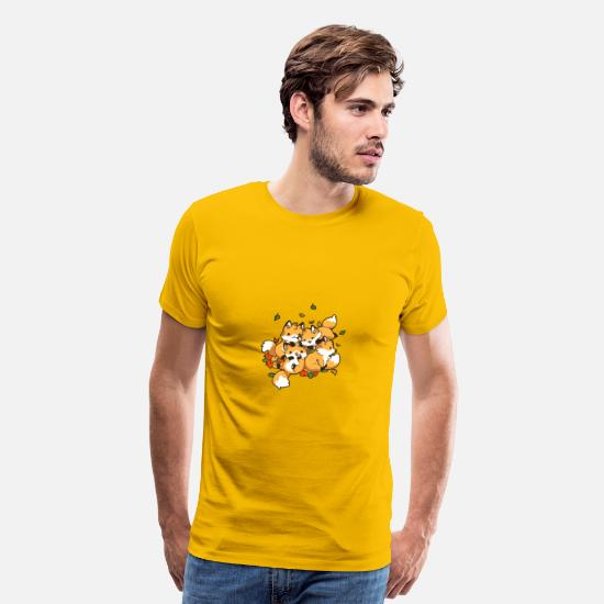 Game T-Shirts - Playful Foxes - Men's Premium T-Shirt sun yellow
