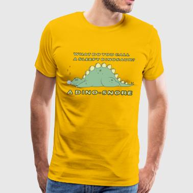 Sleepy Dinosaur - Men's Premium T-Shirt