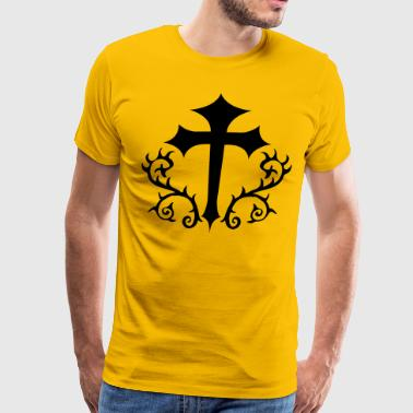 gothic cross with thorns - Men's Premium T-Shirt