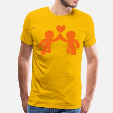 Tit Couples CUTE LOVE gay COUPLE - Men's Premium T-Shirt