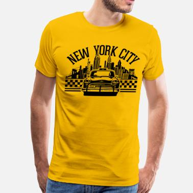 New York City New York Skyline New York City Taxi - Men's Premium T-Shirt