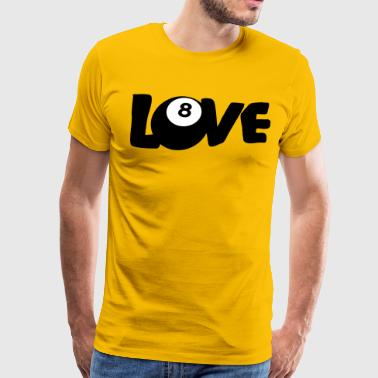 LOVE SNOOKER POOL 8 BALL - Men's Premium T-Shirt
