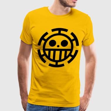 trafalgar law logo yellow - Men's Premium T-Shirt