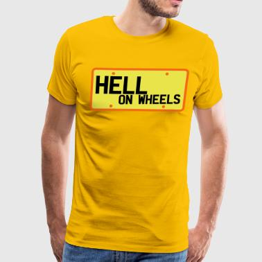 Licence licence plate hell on wheels - Men's Premium T-Shirt