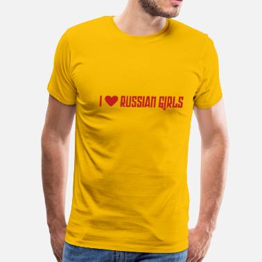 Rossija I love russian girls - Men's Premium T-Shirt