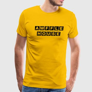 Awful House Awffle House (Yellow) - Men's Premium T-Shirt