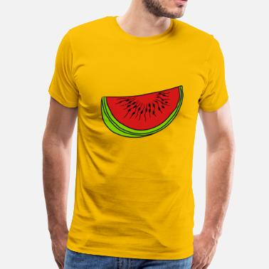 Melon Slice melon piece slice watermelon eating delicious - Men's Premium T-Shirt