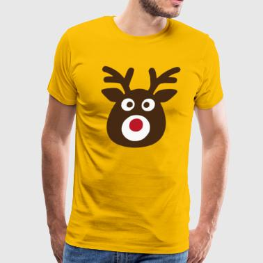 Red Nose Reindeer Rudolph - Men's Premium T-Shirt