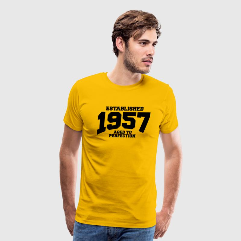 aged to perfection established 1957 - Men's Premium T-Shirt