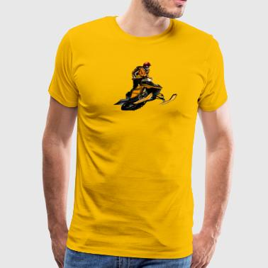 snowmobile racing - Men's Premium T-Shirt