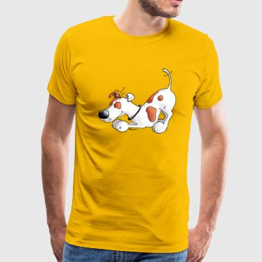 Jack Russell Terrier - dog - t-shirt design - Men's Premium T-Shirt