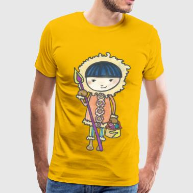 Akiou the little Inuit - Men's Premium T-Shirt