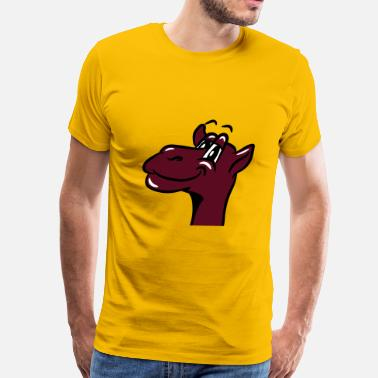 Egypt Comic Camel funny comic - Men's Premium T-Shirt