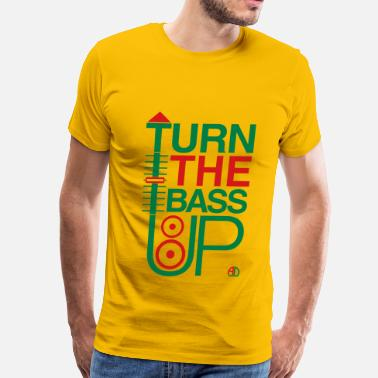 Crossfader TURN THE BASS UP - Speaker and Music - Men's Premium T-Shirt