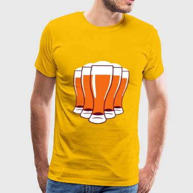 Beer drinking beer glass - Men's Premium T-Shirt