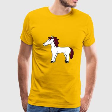 child foal sweet cute little comic cartoon pony pf - Men's Premium T-Shirt
