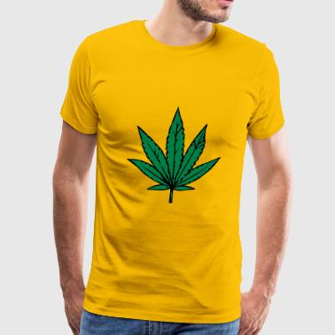 Kiffen marihuana leaf design - Men's Premium T-Shirt