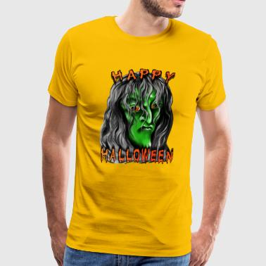 Nasty Witches Happy Halloween Witch - Men's Premium T-Shirt