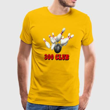 Bowling Team 300 Club - Men's Premium T-Shirt