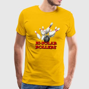 Polar Bowling Team Bi-Polar Rollers - Men's Premium T-Shirt