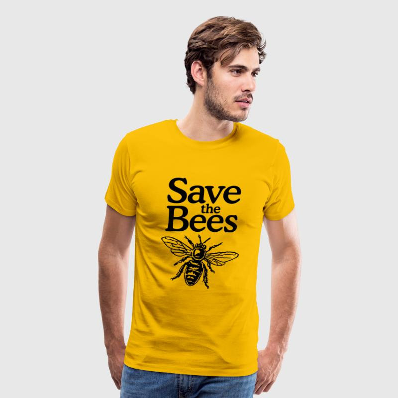 Save The Bees Beekeeper Quote Design - Men's Premium T-Shirt