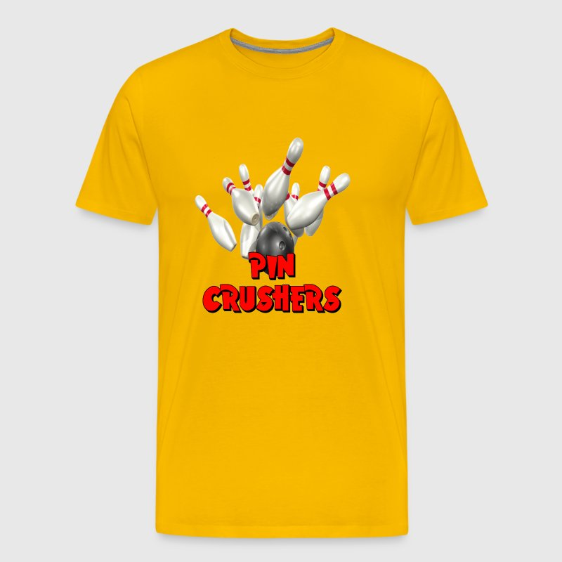 Bowling Team Pin Crushers - Men's Premium T-Shirt