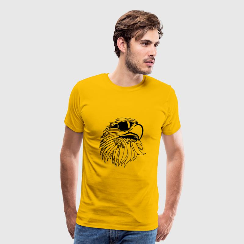 Eagle of Eagle head sunglasses cool - Men's Premium T-Shirt