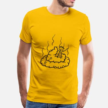 Happy Shit Happy, little, shit, shit, heap, smell, smelly, co - Men's Premium T-Shirt