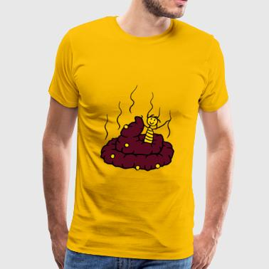Little Shit Happy, little, shit, shit, heap, smell, smelly, co - Men's Premium T-Shirt
